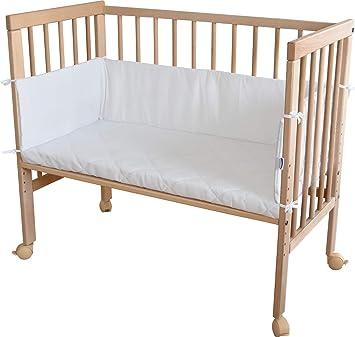 WALDIN Baby Beistellbett Wiege,Babybett große Liegefläche ca.90x48 cm Buche!