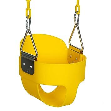 outcamer columpio de jardn para nios columpio infantil con asiento de respaldo alto de seguridad con