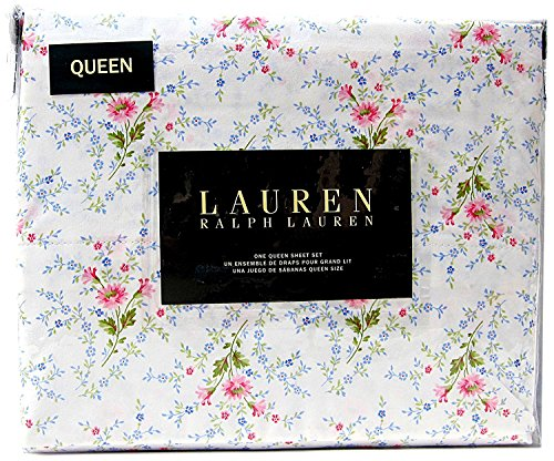 Queen Size French Country Floral Sheet Set Cotton Multi Color