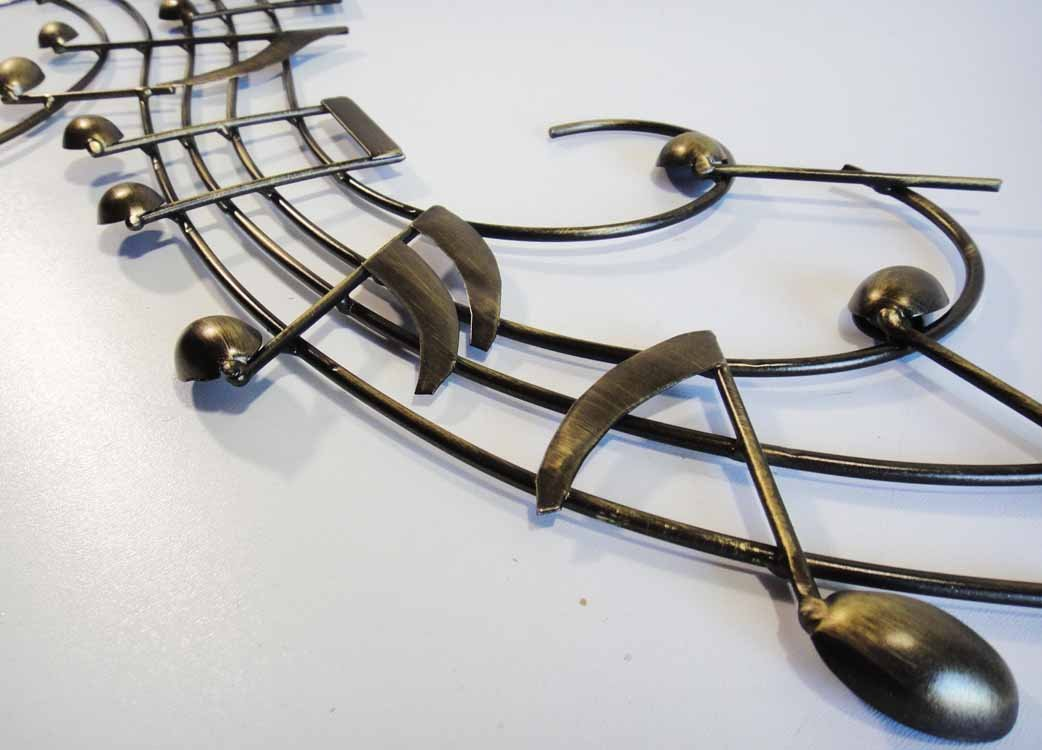 Wall Art - Metal Wall Art Picture - Music Notes Score Scroll: Amazon ...