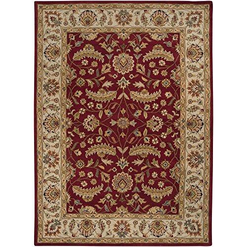 Surya Caesar CAE-1022 Classic Hand Tufted 100% Wool Maroon 8' x 11' Traditional Area Rug