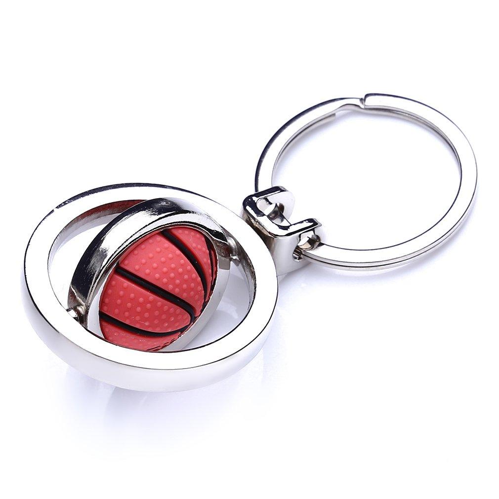 LnLyin - Llavero de baloncesto con diseño de balón de fútbol ...
