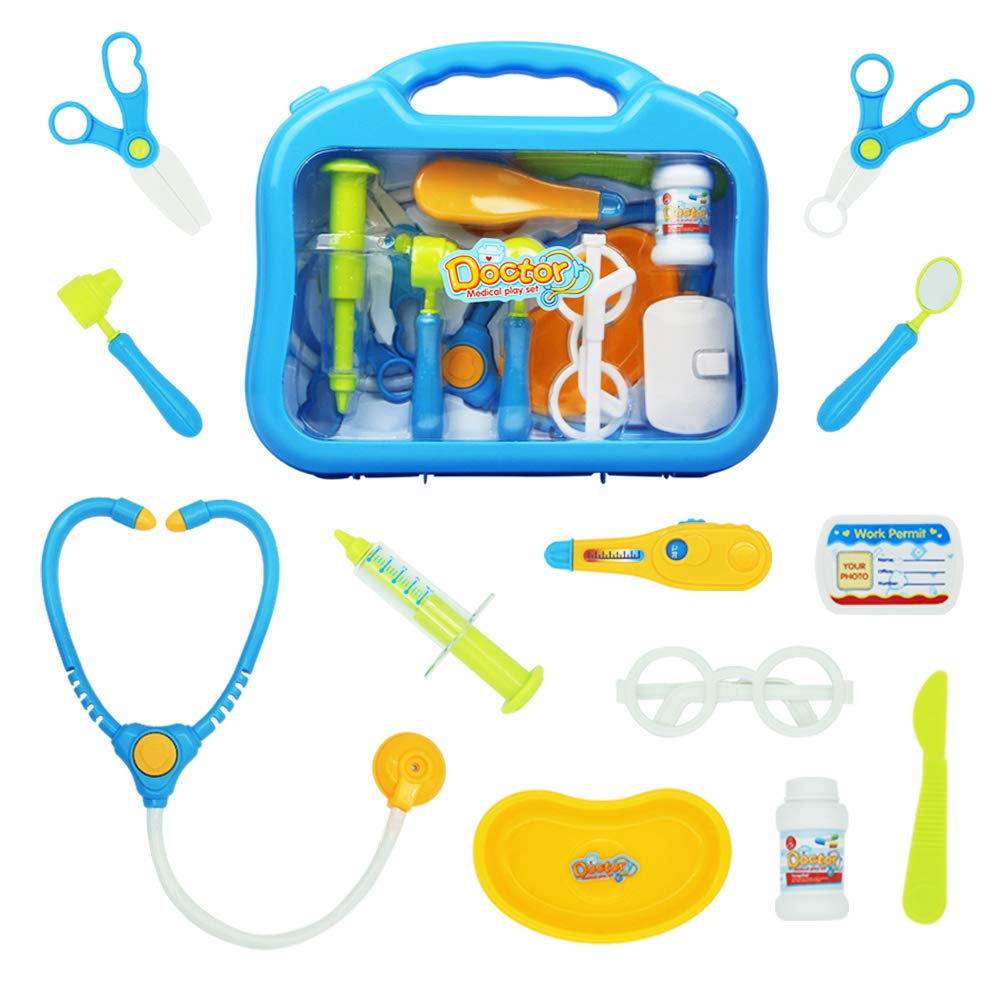Medical Doctor Set Doctor Kit Medical Case Role Play Sets with 10 PCS Accessaries Boys Doctor Set for 3 4 5 Years