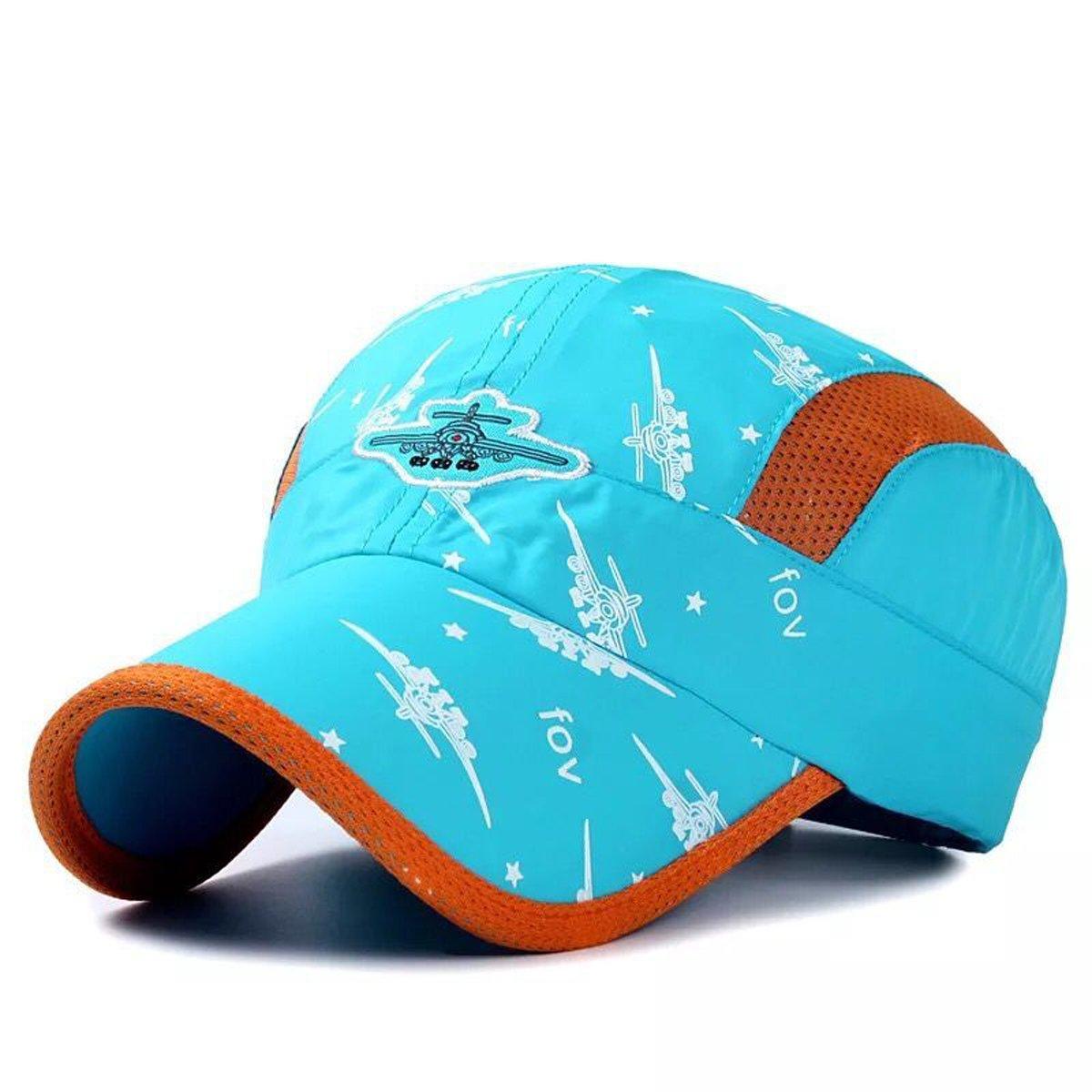 JOYEBUY Kids Girl Boy Lightweight Quick Drying Sun Hat Summer UV Protection Baseball Cap (Sky Blue)