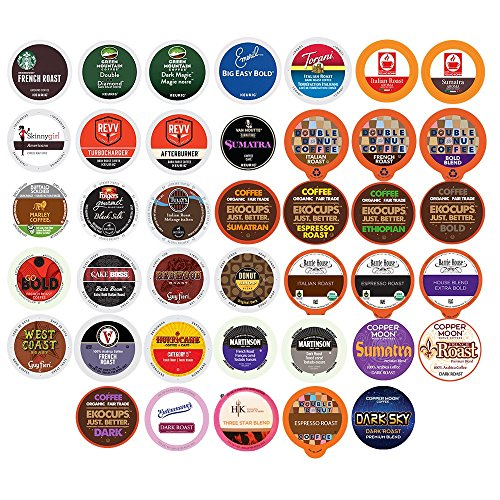 40-count DARK ROAST & BOLD COFFEE Single Serve Cups For Keurig K Cup Brewers Variety Pack Sampler