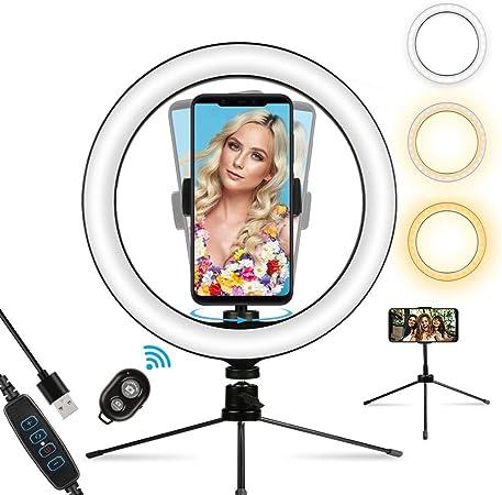 Infinitoo Ringlicht Selfie Licht Mit Stativ 10 Zoll Led Kamera