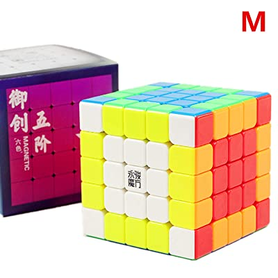 LiangCuber Yongjun Yuchuang V2 M 5x5 Speed Cube YongJun YJ YuCuang 2M 5x5x5 Magnetic Magic Cube 62mm Stickerless (Magnetic Version): Toys & Games