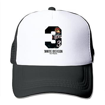 1224bb5f2d8 Facsea Boro Lin Printed Pattern White Iverson Post Malone Unisex Half Mesh  Adjustable Hats Caps Black