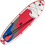 """Hala Rival Straight Up 10'6"""" SUP Inflatable Stand Up Paddle Board Package"""