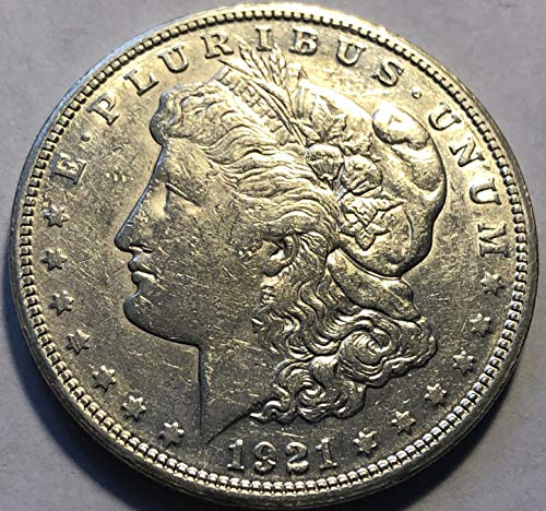 1921 S Silver Morgan Beautiful Dollar AU Almost Uncirculated +