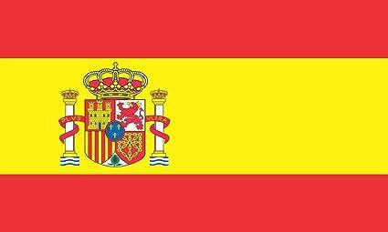 Pegatina con bandera de España de StickerTalk®, vinilo para parachoques o ventana de coche, de 127 mm x 76 mm: Amazon.es: Coche y moto