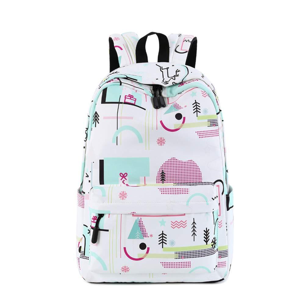 Einfacher Studentenrucksack, Modedruck-Rucksack - Rucksack mit großer Kapazität Kapazität Kapazität - Kreativer wasserdichter Rucksack (Farbe   A) B07NQFX8WM Daypacks Billig ideal 33a13b
