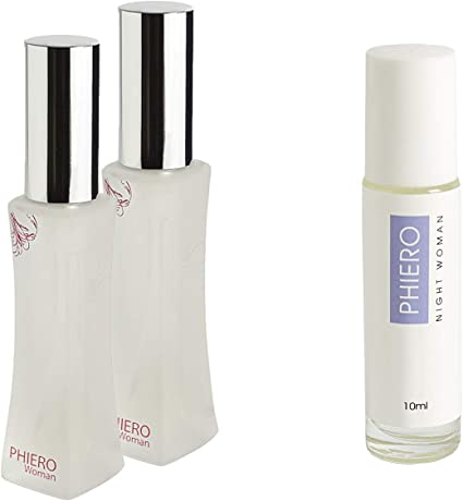 Feromonas - 2 Phiero Woman + 1 Phiero Night Woman: Perfumes con feromonas para mujer: Amazon.es: Belleza