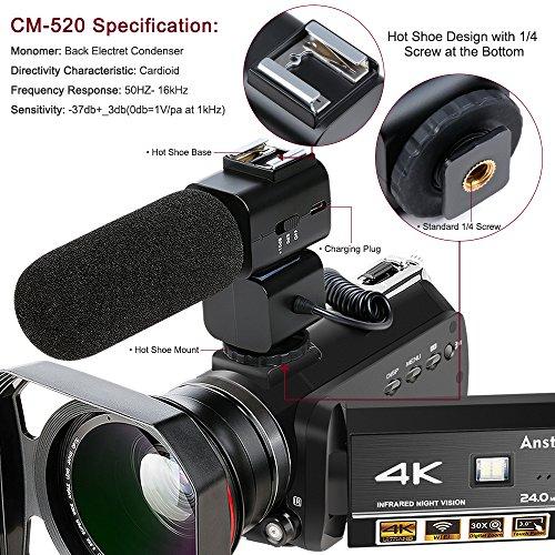Review 4K Camcorder, Ansteker Ultra-HD