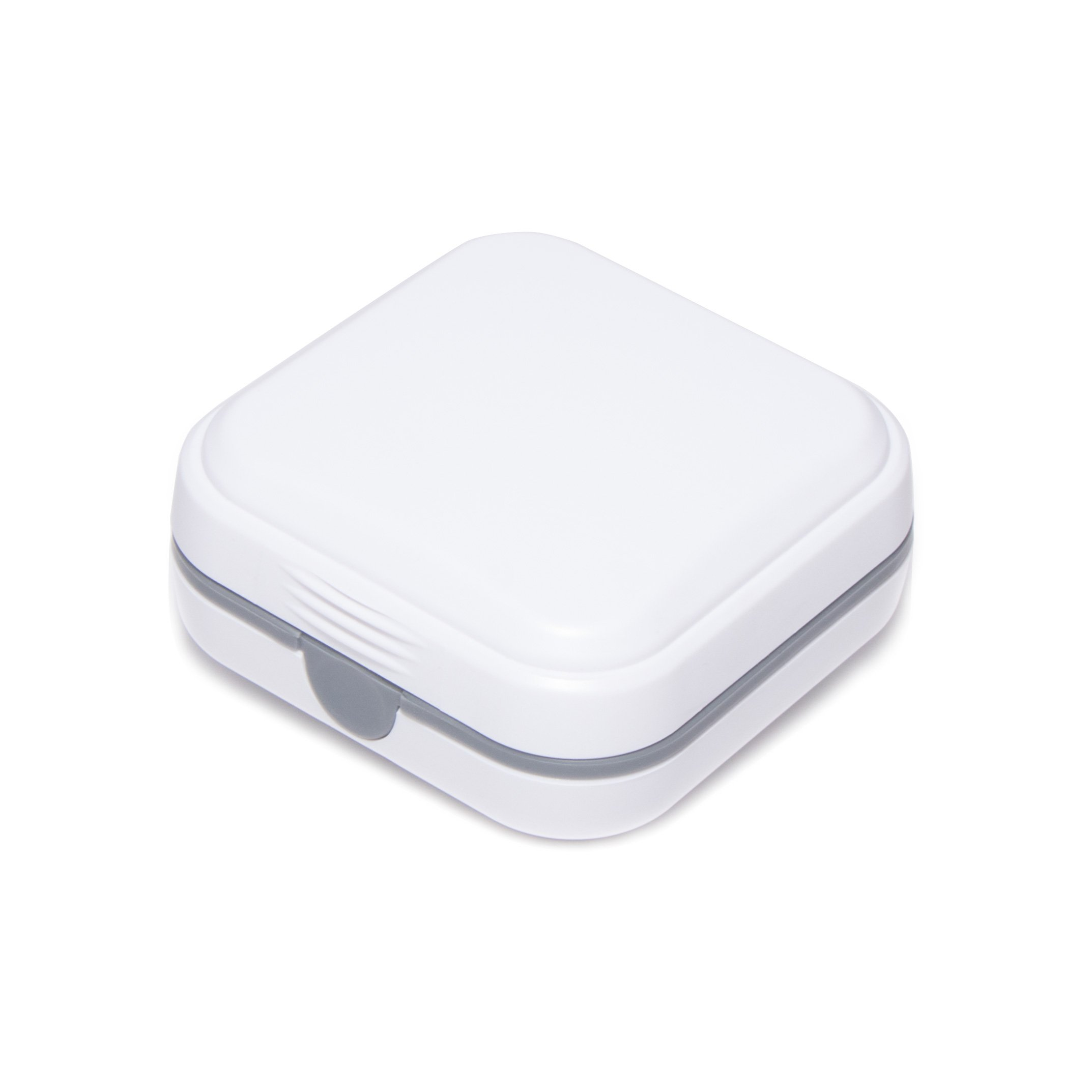 Durable Hearing Amplifier Storage Case - Ideal for CIC ITE BTE RIC Hearing Aid/Small Electronic Device, White