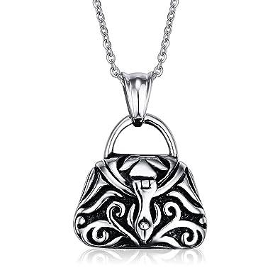 vnox relicario en forma de acero inoxidable colgante en ...