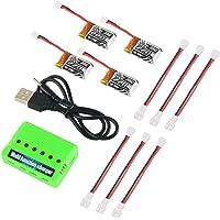 4pcs 1S 3.7V 220mAh LiPo batería 35C