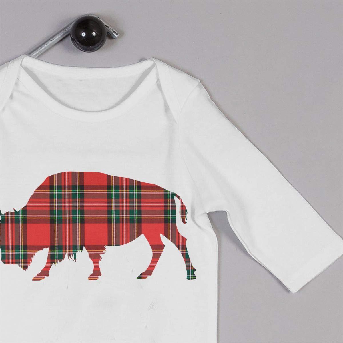 Newborn Baby Boys Girls Cotton Long Sleeve Buffalo Plaid Climb Romper Funny Romper Clothes