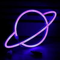 Letrero de NeóN del Planeta - 3 Pilas AA/Alimentadas por USB Luz de NeóN SeñAles de Pared Luz de SeñAl de Arte LáMpara…