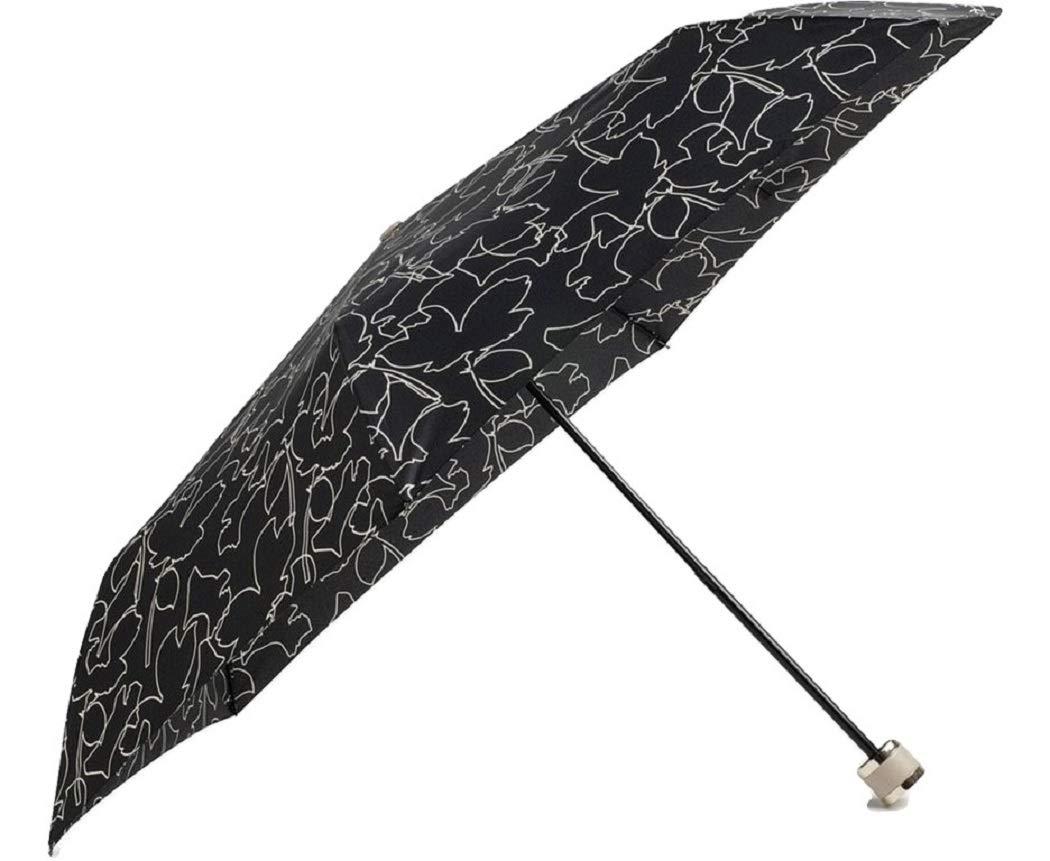 Radley Mini Telescopic Umbrella Linear Dog Design in Black