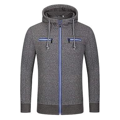 Luckycat Herren Kapuzenjacke Hoodie Sweatjacke Herbst Winter Strickjacke  Langarm Mit Kapuze Mantel Tops Bluse Pullover Mode 2018  Amazon.de   Bekleidung 02af405564