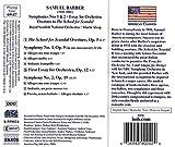 Barber: Orchestral Works, Vol. 1: Overture, The School for Scandal, Op. 5 / Symphony No. 1, Op,. 9 / First Essay for Orchestra, Op. 12 / Symphony No. 2, Op;. 19