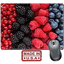 "Liili Natural Rubber Mouse Pad/Mat with Stitched Edges 9.8"" x 7.9"" Mix of differrent berries Image ID 21894829"