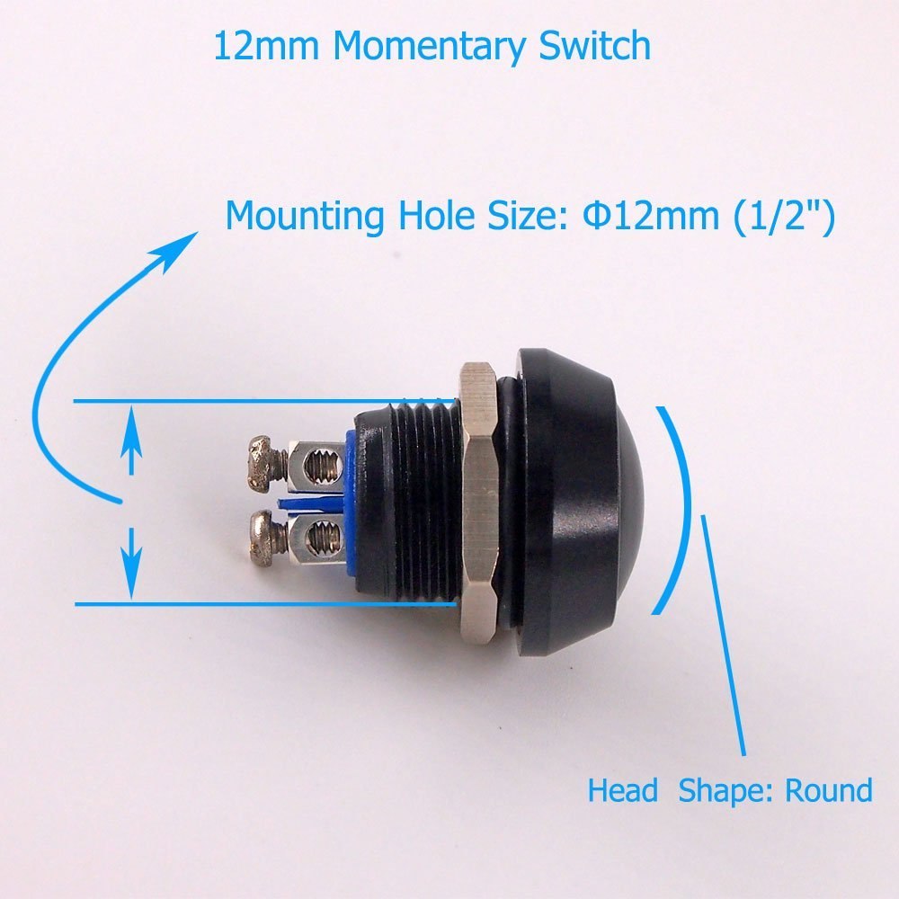 Urtone Momentary Push Button Switch Ur125 1no Spst Dc Ac 36v 2a On Off Switches