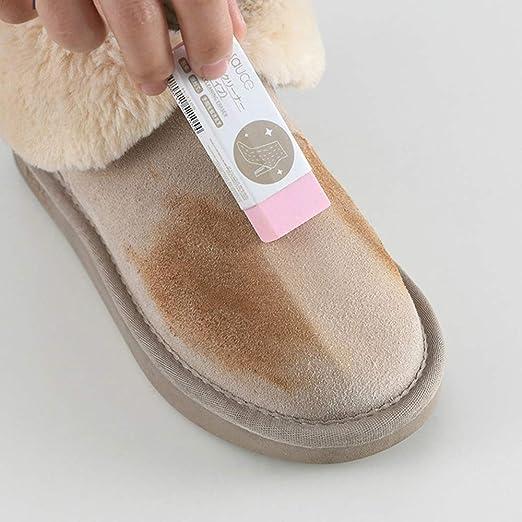 Borrador de Limpieza de Zapatos, Limpiador de Piel de Oveja de Ante, Limpiador de Zapatos de Cuero Mate, No Necesita Agua Cuidado de la Tela de Cuero Cuidado de los Zapatos, Blanco: