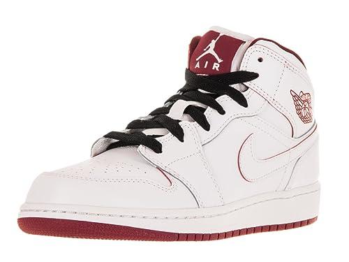 big sale 2940e 6940d Amazon.com   Nike AIR JORDAN 1 MID BG boys basketball-shoes 554725    Basketball