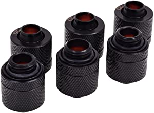 Alphacool 17387 HF 13/10 Compression Fitting G1/4 - deep Black Sixpack Water Cooling Fittings