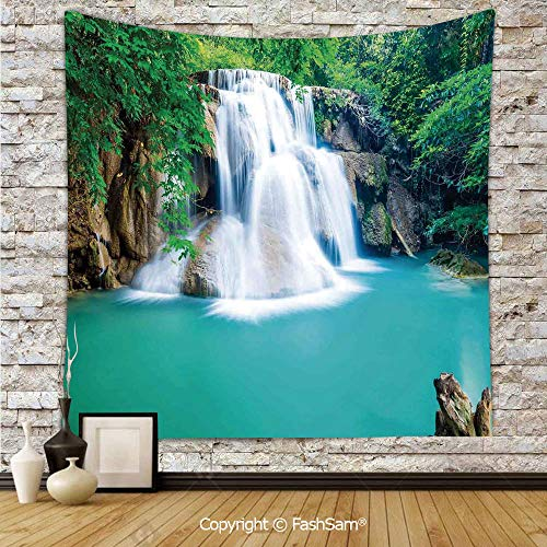 FashSam Tapestry Wall Blanket Wall Decor Exotic Waterfall Over Cyystal Like Lake Secret Planet Artsy Photo Home Decorations for Bedroom(W39xL59) -