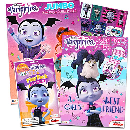 Disney Vampirina Coloring Book Super Set -- 2 Coloring Books, Posters, and Vampirina Stickers (Vampirina Party Supplies) ()