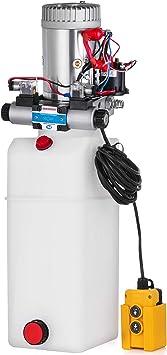 Mophorn 24V DC Hydraulikpumpe mit doppeltem Gro/ßtankeffekt zum Entladen von automatischem Anh/ängerlift