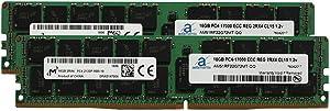 Adamanta 32GB (2x16GB) Server Memory Upgrade Compatible Compatible for HP Z840 Workstation DDR4 2133MHz PC4-17000 ECC Registered Chip 2Rx4 CL15 1.2v DRAM RAM
