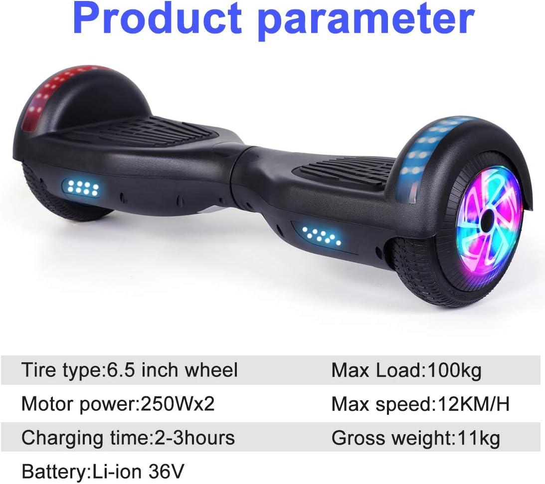 Amazon.com: Jolege Hoverboard - Patinete de 2 ruedas con luz ...