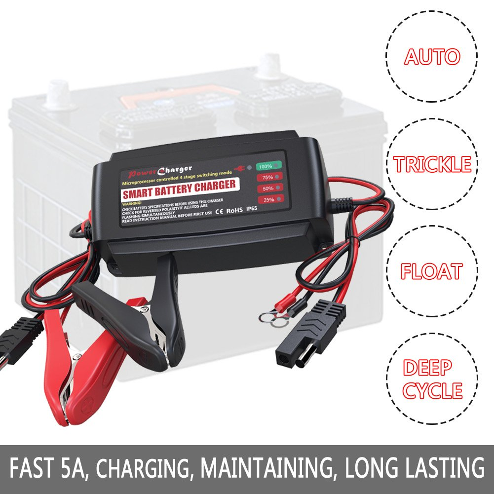 Amazon Com Lst Automatic Battery Charger Maintainer 12v Portable