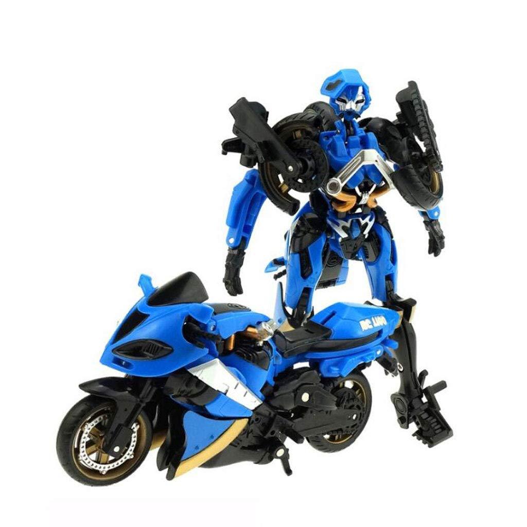 Robots de d/éformation de Moto Siyushop Jouets de d/éformation pour Enfants Jouets de Robot de d/éformation Cadeaux pour Enfants Color : Blue