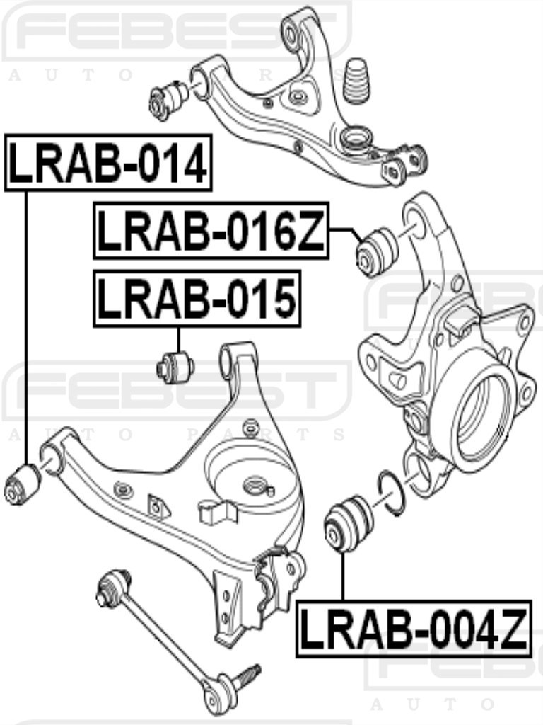 FEBEST LRAB-015 Rear Lower Arm Bushing