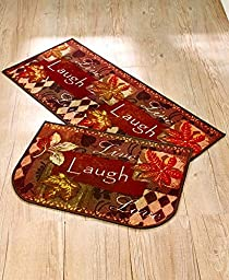 2-Pc. Live Laugh Love Fall Rug Set
