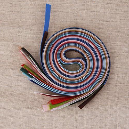 18本入り 6mm マルチカラー ピース グログラン リボン DIY工芸品 工芸品 装飾 ギフト包装