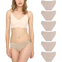 Bragas Mujer sin Costuras Invisible Señoras Braguitas Low Rise Suave Ligera Bikini Braguitas, Pack de 3/6