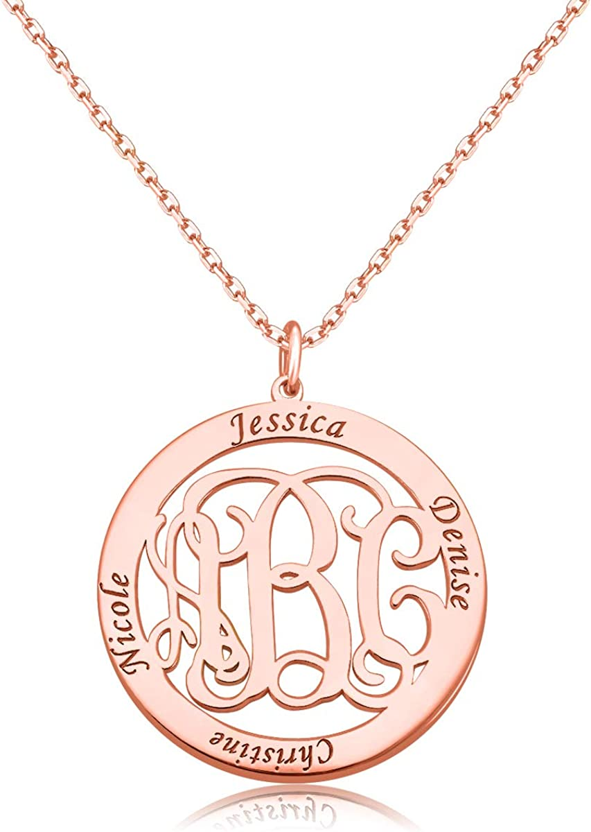 Unisex Choker Custom Name Pendant Chain Customized Nameplate Necklace Jewelry