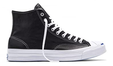 513f958996e7 Image Unavailable. Image not available for. Color  Converse Unisex Jack  Purcell Signature Hi Black White White 153586C 4.5 Men Women