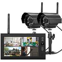 7 Pouces TFT Digital 2.4G Caméras sans Fil Audio Vidéo Moniteurs de bébé 4CH Quad DVR Système de sécurité Night Light IR Deux caméras