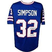 $179 » OJ Simpson HOF 85 Autographed Buffalo Bills Custom Football Jersey - BAS COA
