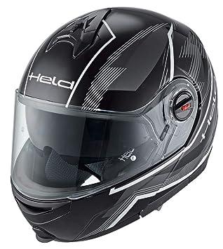 Héroe de turismo de la motocicleta casco modular decorativo Blanco y negro Talla:small