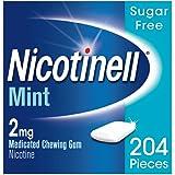 Nicotinell Stop Smoking Aid Nicotine Gum, 2 mg, Mint, 204 Pieces