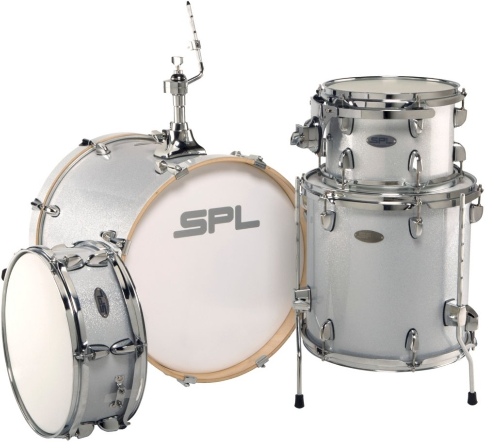 Sound Percussion Labs Street Bop Birch Ply 4 Piece Shell Drum Set Diagram Premier 9 Peice Kit Pack Silver Metallic Glitter Musical Instruments