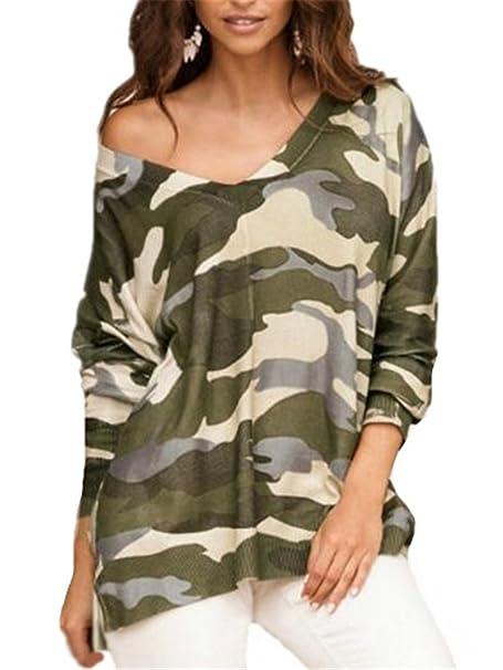 Tayaho Blusas Mangas Largas Mujer Camiseta Tallas Grandes Camisas V Cuello Blusa Elegante Ocasionales Blusas Suelto